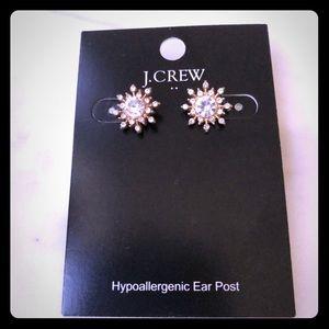 J.Crew snowflake earrings